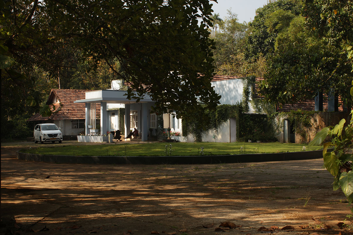 Image of the exterior of our Home Sundara Mahal in the morning light