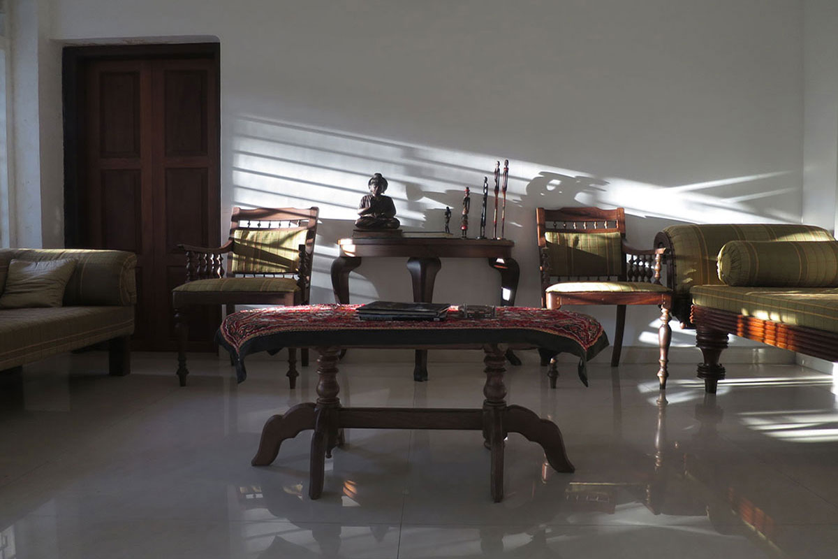 image of our drawing room with antique furniture
