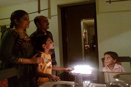 Image of our celebration of the birthday of the child in our guest family
